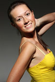 Glamor portrait of a beautiful woman — Foto Stock