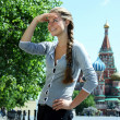 Beautiful russian girl in Moscow - Stock Photo