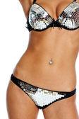 Disco bikini body — Stock Photo