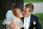 Wedding Kiss — Stock Photo