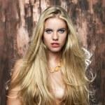 Portrait of beautiful blonde women — Stock Photo