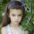 Portrait of beautiful little girl — Stock Photo