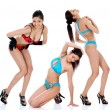Three sexy girls — Stock Photo #32556669