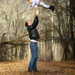 Father and little girl — 图库照片