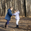 Two sisters in autumn park — Stock Photo #34894207