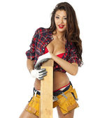 Sexy Carpenter — Stock Photo