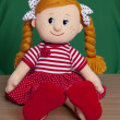 Stock Photo: Red haired baby doll