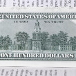 One hundred dollars banknote — Foto de Stock