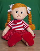 Red haired baby doll — Stock Photo