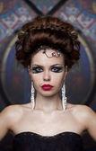 Portret van mooie vrouw — Stockfoto
