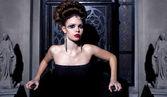 Glamour portret van sexy vrouw — Stockfoto