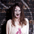 Scary looking zombie woman — Stock Photo #40186701