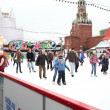 People skating on the Red Square — Stock Photo #41643357