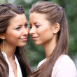 Two sisters young women — Stock Photo