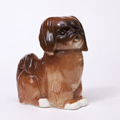 Pekingese Dog ceramic figurine — Stock Photo