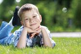 Portrait of beautiful little boy — Stock Photo