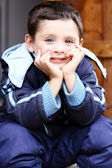 Portrait of beautiful little boy — Stock Photo