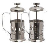 Two Empty glass teapot  — Stock Photo