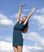Young woman enjoying life  — Foto Stock