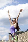 Young woman enjoying life  — Foto Stock