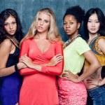Ethnic four women face — Stock Photo #48375673