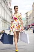 Shopping street — Stock Photo