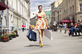 Shopping street — Stock Photo