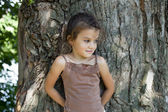 Cerrar el retrato de una muchacha bonita liitle — Foto de Stock