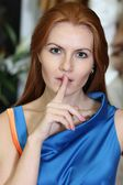 Beautiful red-haired woman — Stock Photo