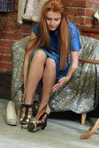 Piękna rudowłosa kobieta — Zdjęcie stockowe