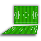Green soccerfields — Stock Photo