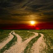 Two ground roads — Stock Photo