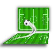 Groene soccerfields — Foto de Stock