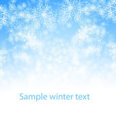 Snow winter background — Stock Photo