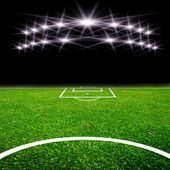 Soccer field with light — Photo