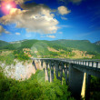 Stock Photo: The big Montenegro bridge