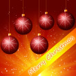 Red Cristmass background - Stock Photo