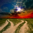 Stockfoto: Two ground roads