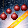 Red Cristmass background — Stock Photo