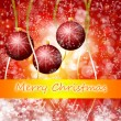 Cristmas background with lights — Foto Stock