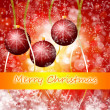 Cristmas background with lights — Stock Photo