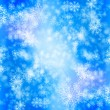 Snow winter background - Stock Photo