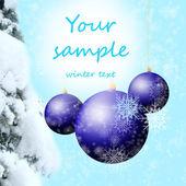 Winter achtergrond met sneeuw — Stockfoto