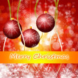 Cristmas background with lights - Stock Photo