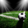 Soccer ball on the field — Stock Photo #18544083