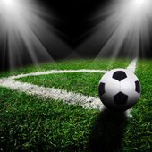 Soccer ball on the field — Foto de Stock