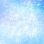 Snows on blue background — Stock Photo