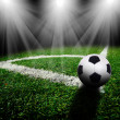 Soccer ball on the field — Stock Photo #19285465