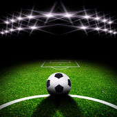 Soccer field with light — Stock Photo
