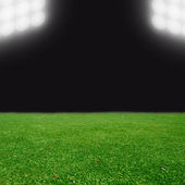 Soccer field with bright lights — Stock Photo